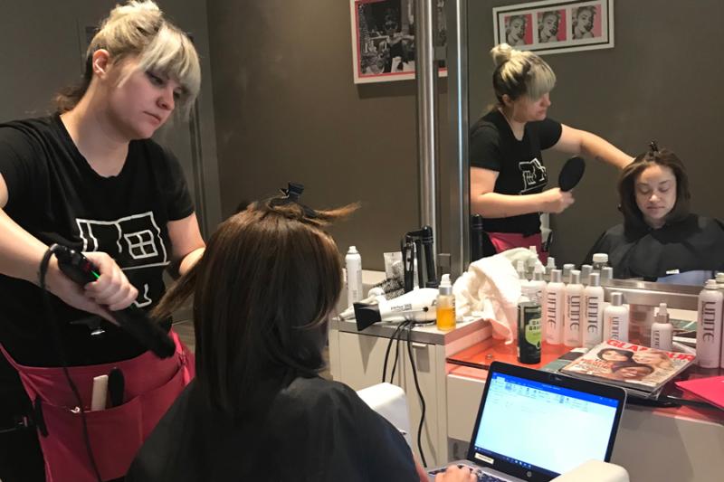 Terri at Blo Hair Salon