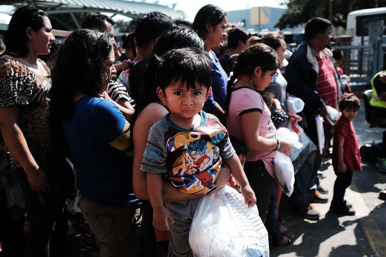 child at border