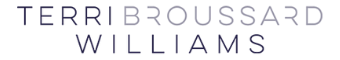 Terri Broussard Williams Logo